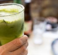 Closeup of green juice